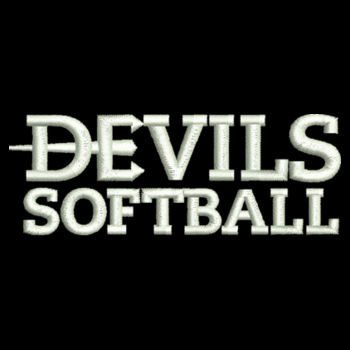 ADULT, White Sport Lace Hooded Sweatshirt Devils_Softball_White   Design