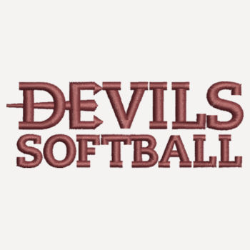 ADULT, Sport Lace Hooded Sweatshirt Devils_Softball_Maroon   Design