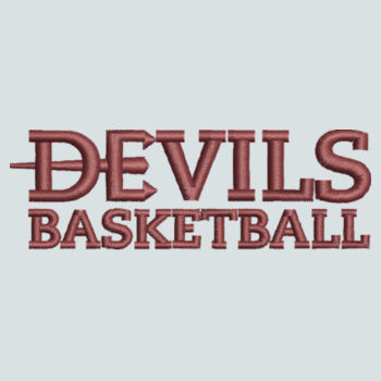 ADULT, Baseball Cap Twill Devils_Basketball_Logo_Maroon Design