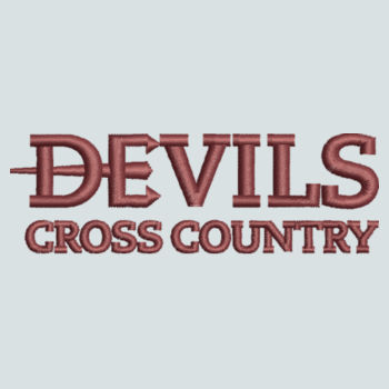 ADULT, Baseball Cap Twill Devils_Cross Country_Logo_Maroon Design