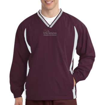 Tipped V Neck Raglan Wind Shirt, Usci_Alumni_One Color Thumbnail