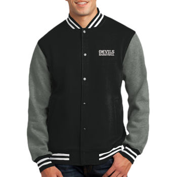ADULT, Fleece Letterman Jacket Devils_Basketball_White Thumbnail