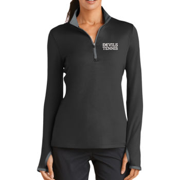Nike Golf Ladies Dri FIT Stretch 1/2 Zip Cover Up, Devils_Baseball/White Thumbnail