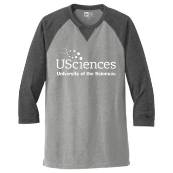 Sueded Cotton 3/4 Sleeve Baseball Raglan Tee, USciences_White Thumbnail