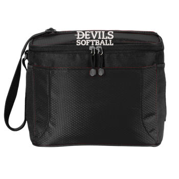 12 Can Cube Cooler, Devils_Baseball/White Thumbnail