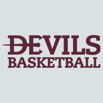YOUTH, Pullover Hooded Sweatshirt Devils_Basketball_Maroon Design