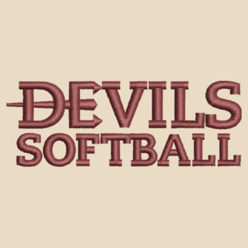 Tote Bag, Devils_Softball_Logo_Maroon   Design