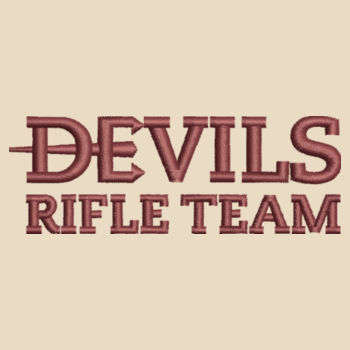 Tote Bag, Devils_Rifle Team_Logo_Maroon Design