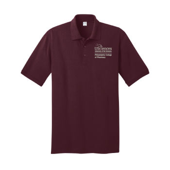 ADULT, Short Sleeve Jersey Knit Polo Shirt PCP_USciences_Stacked_White Thumbnail