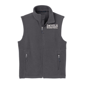YOUTH, Fleece Vest, Devils_Baseball/White, Left Chest Thumbnail