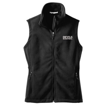 LADIES, Fleece Vest, Devils_Baseball/White, Left Chest Thumbnail