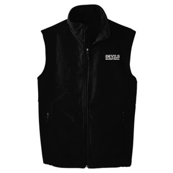 ADULT, Fleece Vest, Devils_Baseball/White, Left Chest Thumbnail