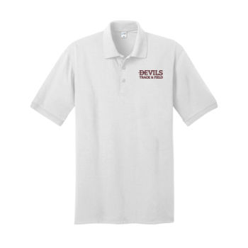 Jersey Knit Polo, Track and Field/Maroon Thumbnail